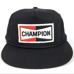 Vintage Champion Embroidered Patch Rope Front Hat